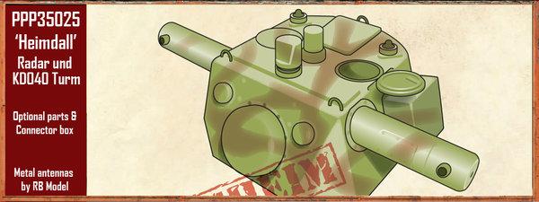 E 75 ET RADAR UND KDO40 TURM HEIMDALL - Trumpeter et Paper Panzer 1:35  File